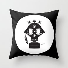 Post World Zuno : Gas Mask 02 Throw Pillow
