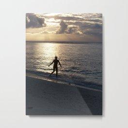 Lone Snorkeler  Metal Print