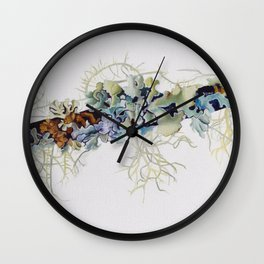 Lichen Wall Clock