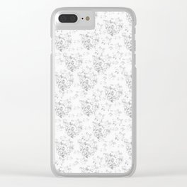 Wite Roses Clear iPhone Case