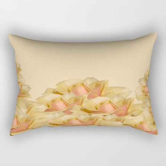 Peach Rose Delight Rectangular Pillow