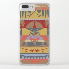 American Native Pattern No. 73 Clear iPhone Case