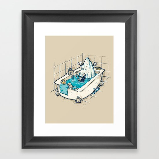 BATH TIME Framed Art Print