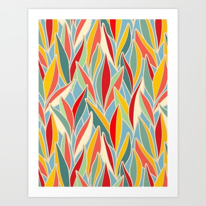 Colorful Eucalyptus Leaves Art Print