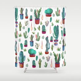 cactus everywhere Shower Curtain