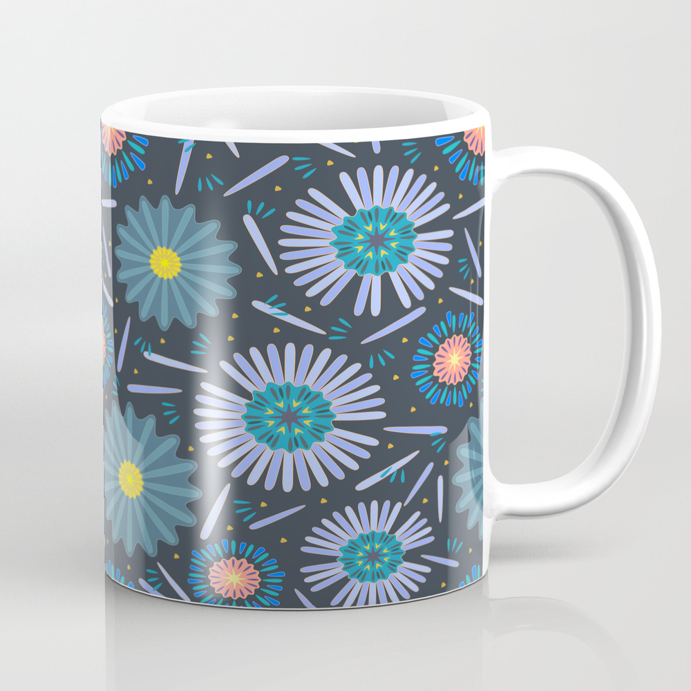 Blue Daisy Mug by Kiraseiler MUG8670612