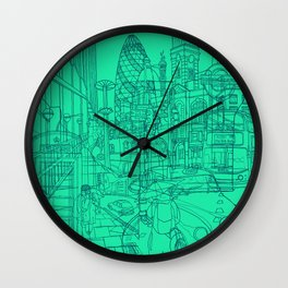 London! Mint Wall Clock