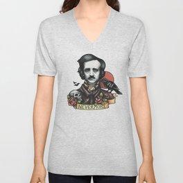 Edgar Allan Poe Raven Nevermore Unisex V-Neck