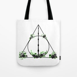 Deathly Hallows in Green and Gray Tote Bag