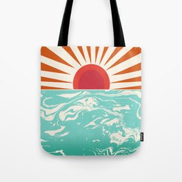 Keepin' It Real - retro 70s vibes throwback ocean sunset sunrise socal surfing beach life 1970's Tote Bag