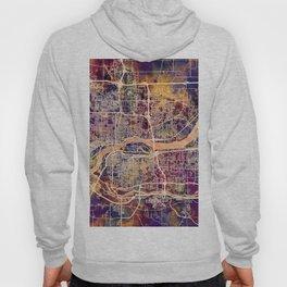Quad Cities Street Map Hoody