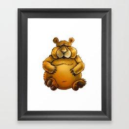 Beary sorry. Framed Art Print