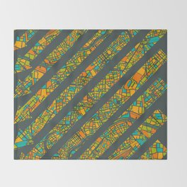 Arrows Map Throw Blanket