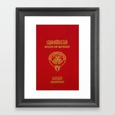 Kuwaiti Pass Port Red Framed Art Print
