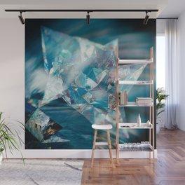 Aqua Crystal Wall Mural