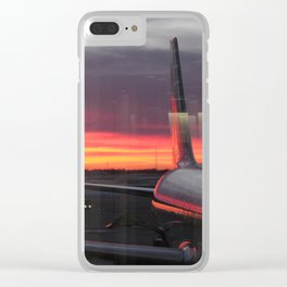 Plane Window At Sunrise Clear iPhone Case