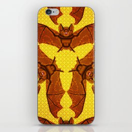 Geometric Bat Pattern - Golden version iPhone Skin
