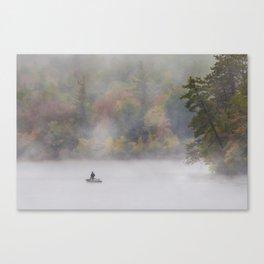 Foggy Fall Fishing Canvas Print