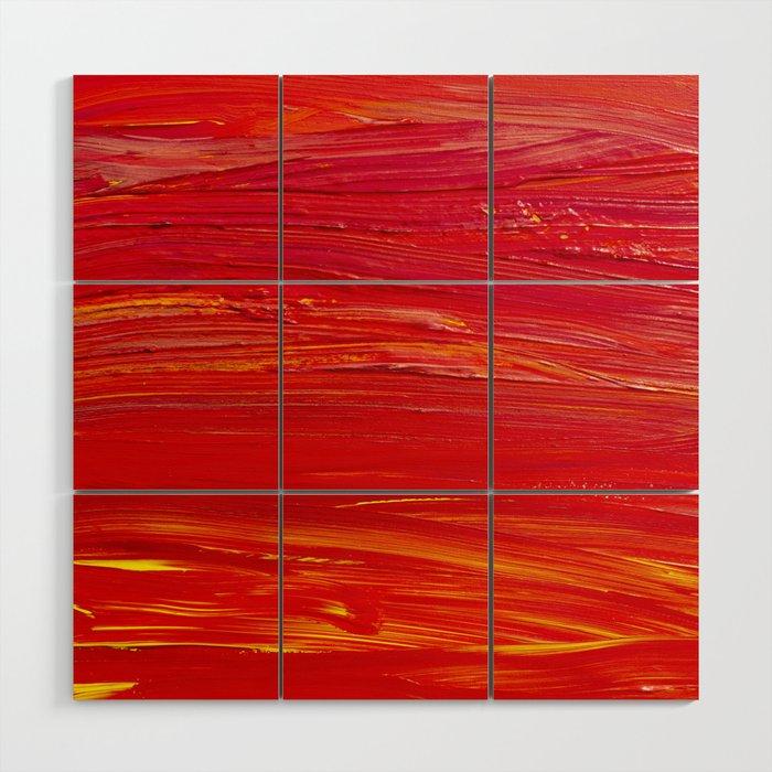 Shades of Red Wood Wall Art