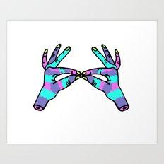 hand to hand Art Print