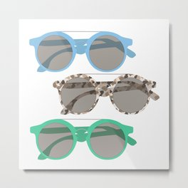 Three Sunglasses Cool Metal Print