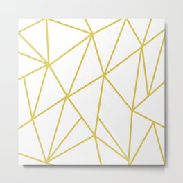 ABSTRACT DESIGN (GOLD-WHITE) Metal Print