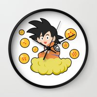 goku Wall Clocks featuring Goku by CmOrigins