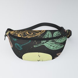 Exotic Plant Poster - Black Fanny Pack