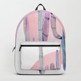 Desert Cactus Sun Rose Gold Purple by Nature Magick Backpack