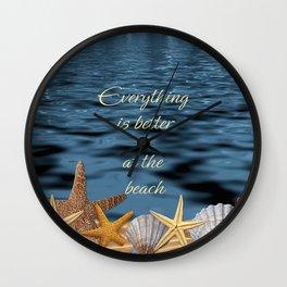 Better At The Beach Wall Clock