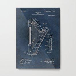 Ekman  Harp  patent art Metal Print