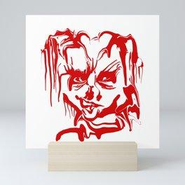 face14 red Mini Art Print
