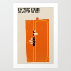 Fantastic Beasts Art Print