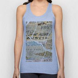 Austin map Unisex Tank Top