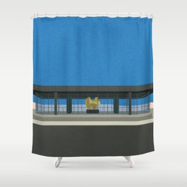 New National Gallery Berlin Shower Curtain