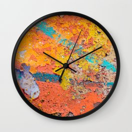 Rusty weathered surface Wall Clock