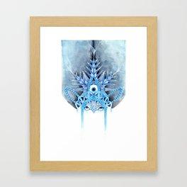 cold snow Framed Art Print
