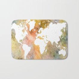 Design 63 World Map Bath Mat