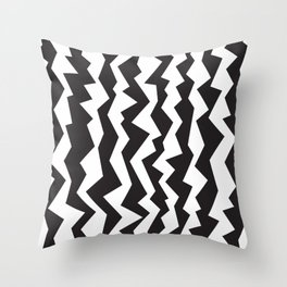 80s Zigzag Throw Pillow