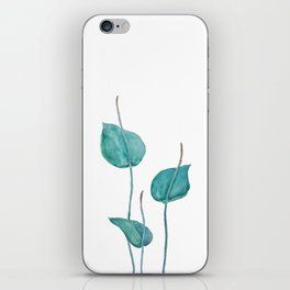 Adder's tongue fern painting iPhone Skin