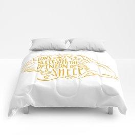 Lions don't lose sleep Comforters
