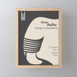 Exhibition poster-Alvar Aalto-Design e Arquitetura. Framed Mini Art Print