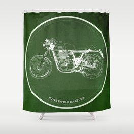 Royal Enfield Bullet 500 - For Some There's Therapy, For The Rest Of Us There's Motorcycles Shower Curtain