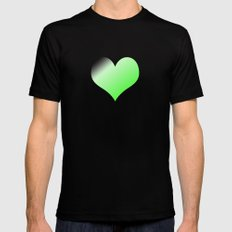 Love green MEDIUM Black Mens Fitted Tee