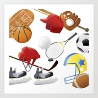 sports Art Prints featuring sports! by Dues Creatius