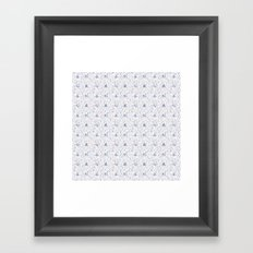 Stuga pattern, white Framed Art Print
