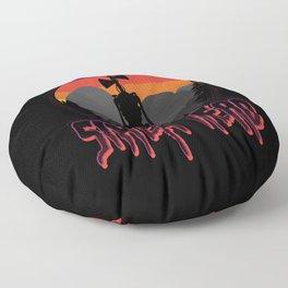 Scary Siren Head vintage sunset meme  Floor Pillow