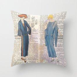 1920's Iris Throw Pillow