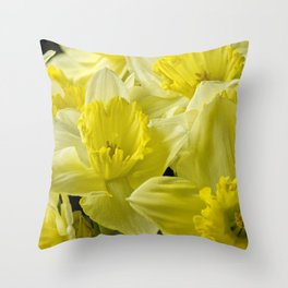 Simply Daffodils Throw Pillow