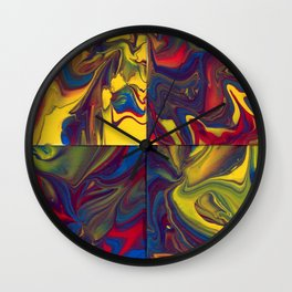Paint Pouring 24 Wall Clock